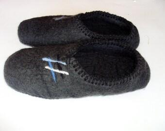 Handmade wool felted slippers