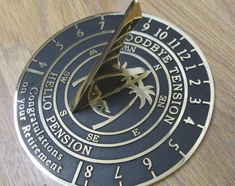 Retirement Sundial - A truly inspired retirement gift