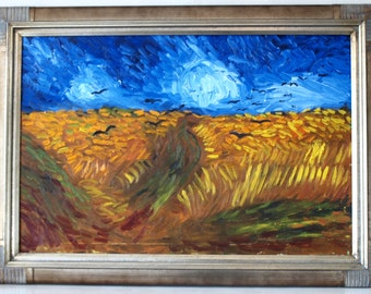An original Copy of Van Gogh's Wheatfield and Crows