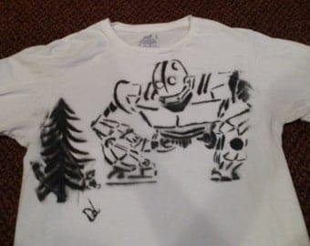 Iron Giant Custom Spray Paint T-Shirt