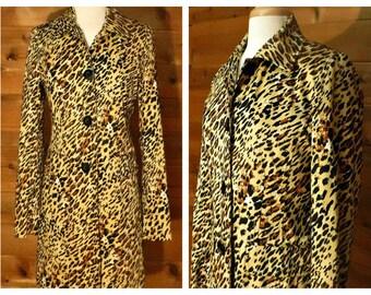 Women's Leopard Coat, Leopard print coat, Leopard overcoat, Long coat, Animal print coat, Maxi coat | Worthington Stretch