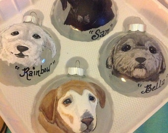 Glass Ornament with your furry friend!