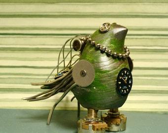 Gloria Shine #10 A steampunk sculpture bird