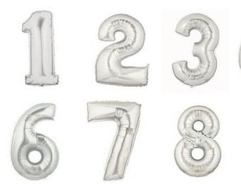 40 inch Silver Mylar Balloon // Giant Silver Foil Balloon // Birthday Celebration // Anniversary