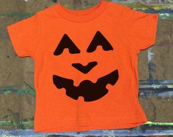 Halloween shirt, toddler halloween shirt, pumpkin face shirt,
