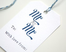 Gay Wedding Gift Tag - Mr & Mr Present Tag - Cute Gift Tag for Two Grooms - Same Sex Marriage - LGBT Wedding Tag To Add To Gift Wrap