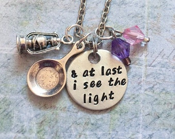 And At Last I See The Light V1 Necklace - Fairytale Jewelry - Once Upon A Time Jewelry - Princess Jewelry