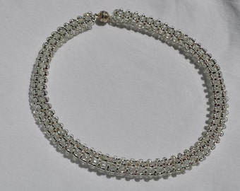 Silver Statement Choker Collar Necklace