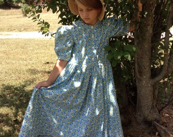 Mennonite Button Down Girls Dress