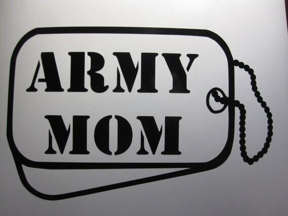 Army Mom Dog Tag Vinyl Window Decal Sticker By Westgavinyls