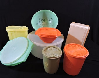 FREE SHIPPING!!   Vintage Tupperware Lot - All Included in One Price!