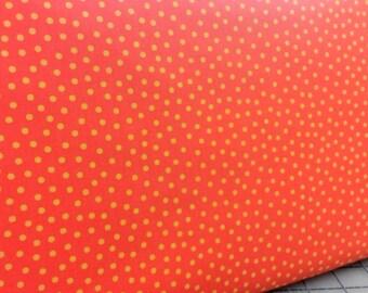 Choice Fabrics CD-17769-007 Orange with small yellow dots
