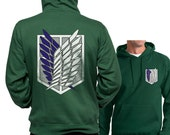 New Attack on Titan Shingeki no Kyojin Unisex Hoodie S to 3XL