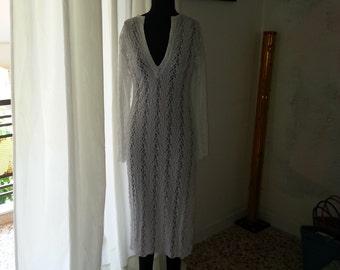 Handmade stretchy lace dress