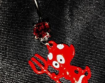 red devil belly piercing
