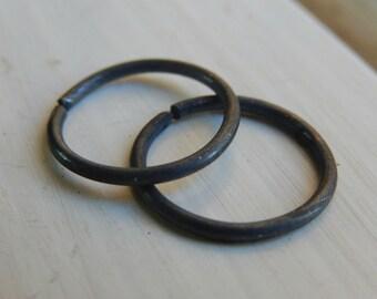 Black Hoop Earrings // Men's Hoop Earring // Black Cartilage Earrings // Cartilage For Men // Helix Hoop Earring