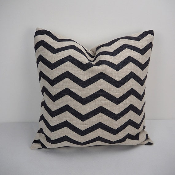 Black Decorative Pillow Cases : Chevron pillow black chevron pillow cases throw by HomeDecorYi