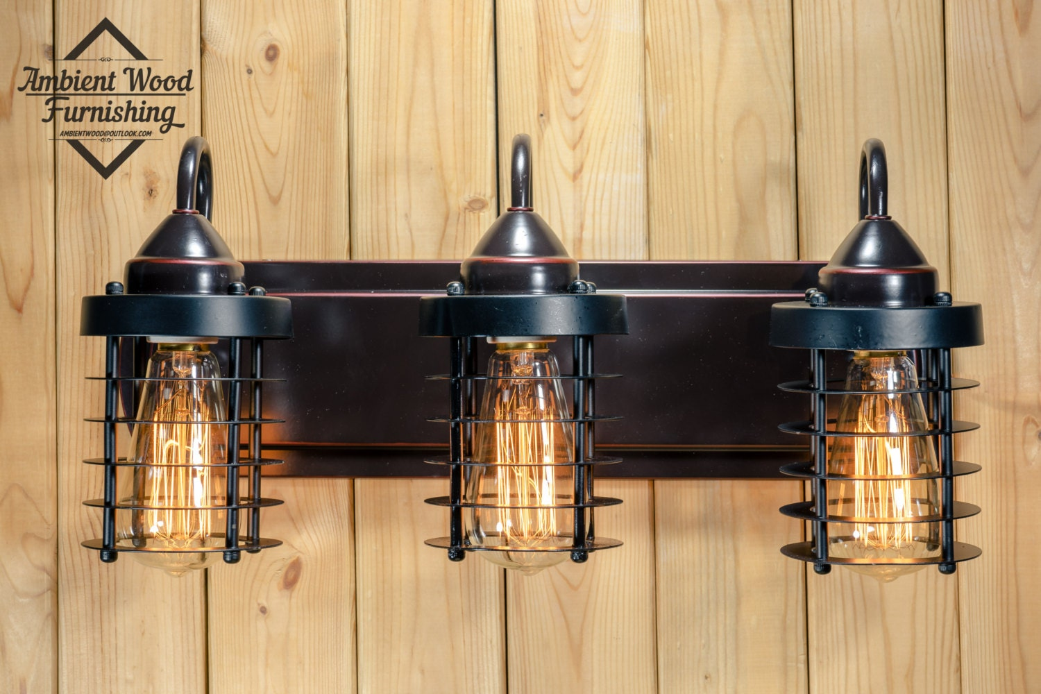 Industrial Bathroom Vanity Cage Light Fixture Bar Light