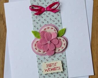"Handmade ""Best wishes"" Card"