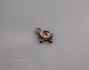 Sterling Silver Charm Vintage Sharpening Wheel Mexico