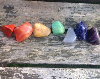 Set of 7 chakra stones. For meditation and healing.