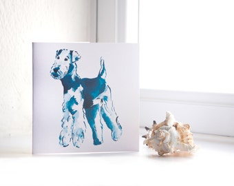 Airedale Terrier - Dog Illustrated Greeting Card