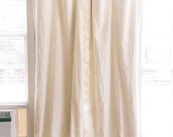 Cream ruffle curtain | Etsy