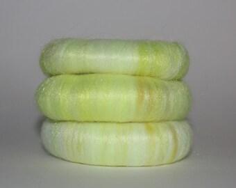 Wool Fiber Spinning Electric Yellow Puni
