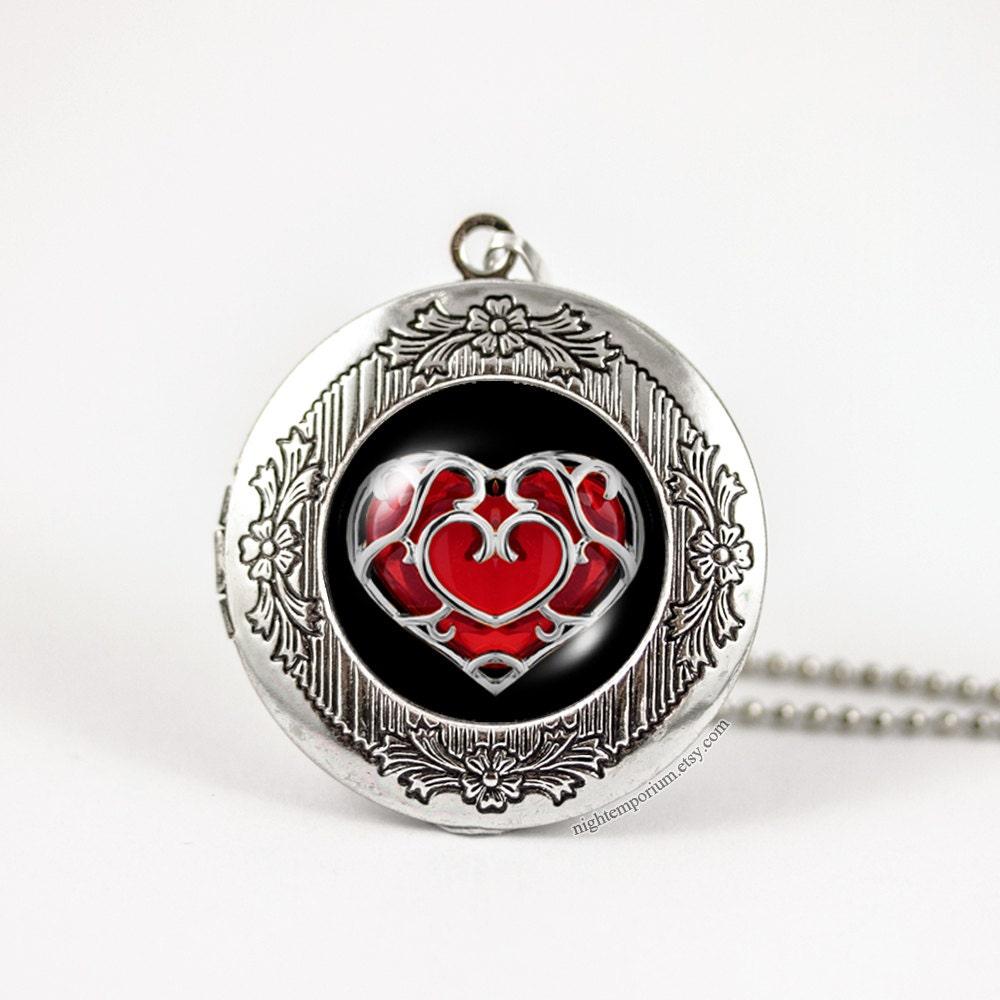 Zelda Heart Container Necklace: Zelda Heart Container Necklace Zelda Necklace Gift For Her