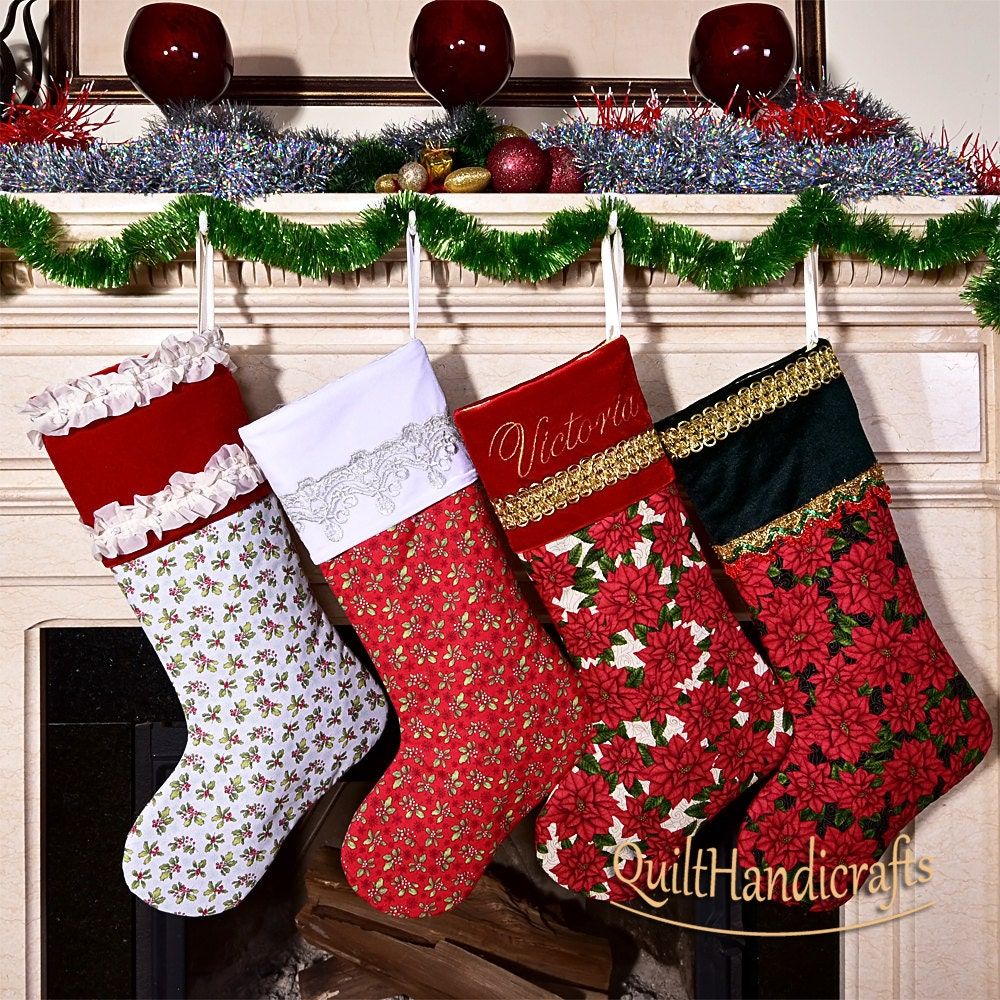 Create Your Own Unique Design Christmas Stocking Quilted