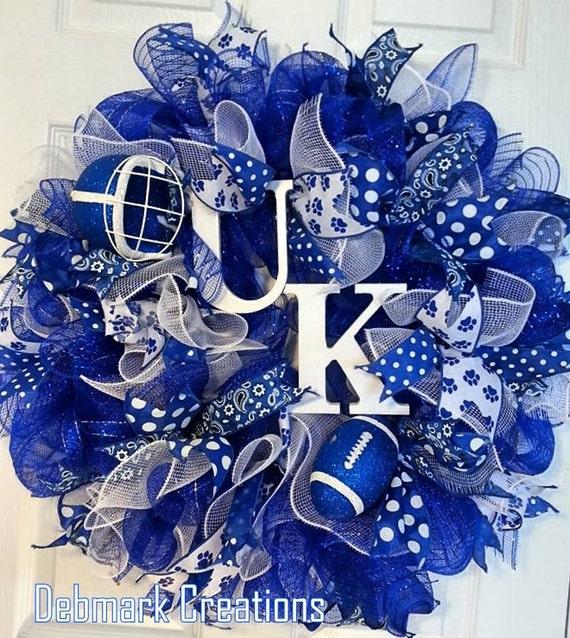 Items Similar To University Of Kentucky Mesh Wreath Uk