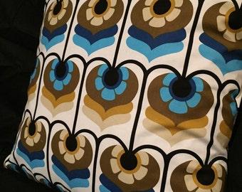 Retro cushion - Blue - 45cm x 45cm (Cover Only) - Handmade