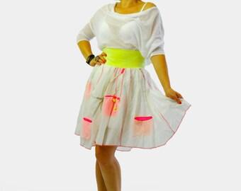 White cotton skirt | Etsy