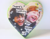 There's Nothing Ron with Us // Harry Potter Pin // Heart-shaped, Wooden, Silver