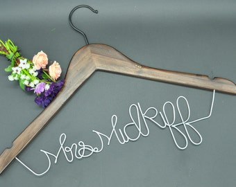 Promotions Silver Wedding hanger Personalized wedding Hanger, Wire bride Hanger, Wedding dress hanger, Bridal Hanger, Bridesmaids Hanger
