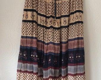 Vintage 70s Indian gauze skirt free size
