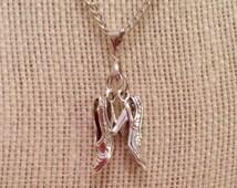 Dancing Shoe Pendant and Earrings Jewelry Set