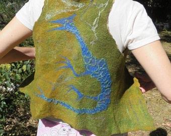 Nuno felted dragon vest