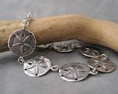 Sand Dollar Bracelet - Ocean Inspired Jewelry - Sandollar - Beach Jewelry - Sterling Silver - Sandollar - Sea Charms - Bracelet