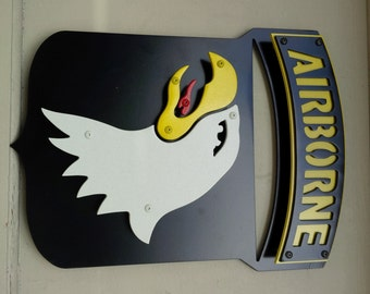 "US ARMY - 101st Airborne Division plaque / sign - 18""x14"""