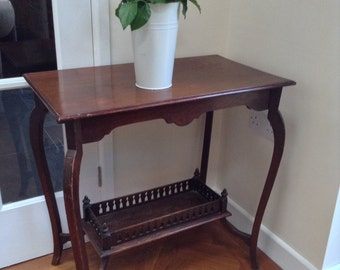 SOLD Edwardian Mahogany Side Table
