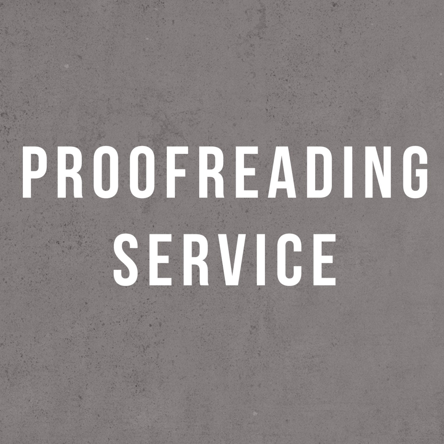 Proofreading service