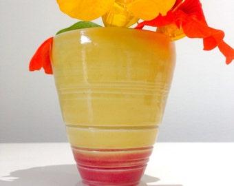 Retro stoneware Bud Vase