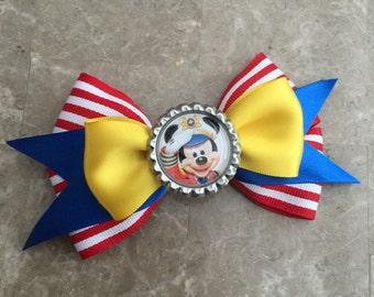 Mickey sailor cruise hair bow