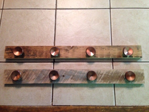 Reclaimed Barn Wood Knob Coat Rack