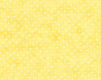 Essential Dots by Moda --  # 8654-20 --  Yellow with White Dots --  100% Cotton