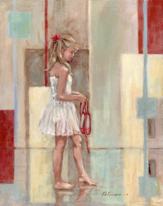 "Red Shoes by Carol Ann Curran - Fine Art Print - Double Matted to 11"" x 14"" (Image Size 8"" x 10"") - Ballet"