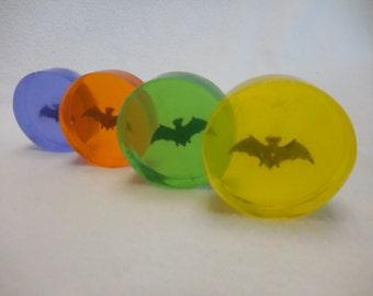A Little Batty Soap - (5) Five Pack - Moisturizing Kids Soap - Halloween Party Favor - Bat Soap - Unique Gift - Childrens Glycerin Soap