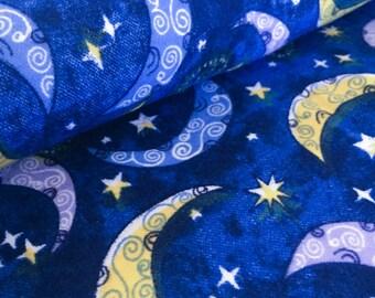 Stary Night Flannel Fabric Piece