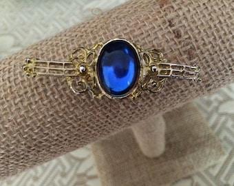 Vintage Blue Stone Brooch